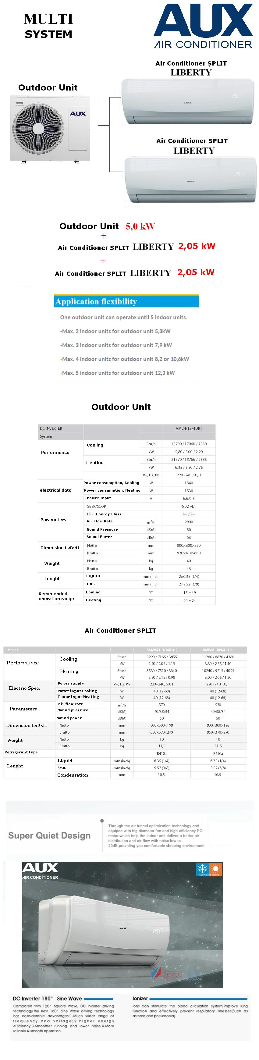 air conditioner multi aux outdoor unit h18+ air conditioner split